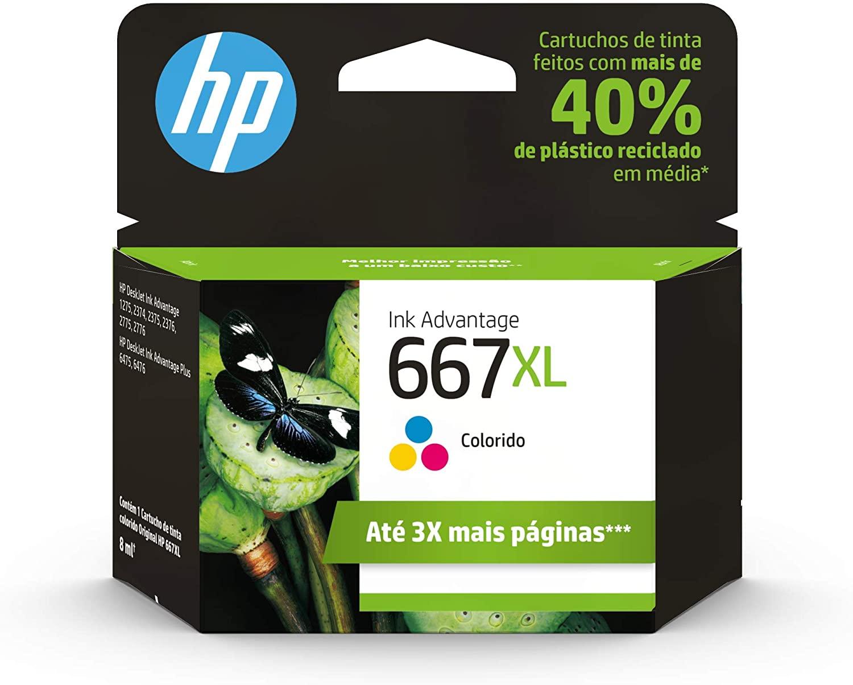 Cartucho HP 667 XL Color