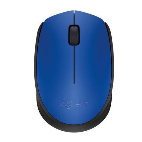 Mouse sem Fio Logitech Óptico 1000DPI 3 Botões – M170 Azul