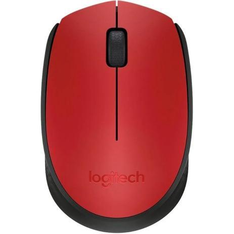 Mouse sem Fio Logitech Óptico 1000DPI 3 Botões – M170 Vermelho
