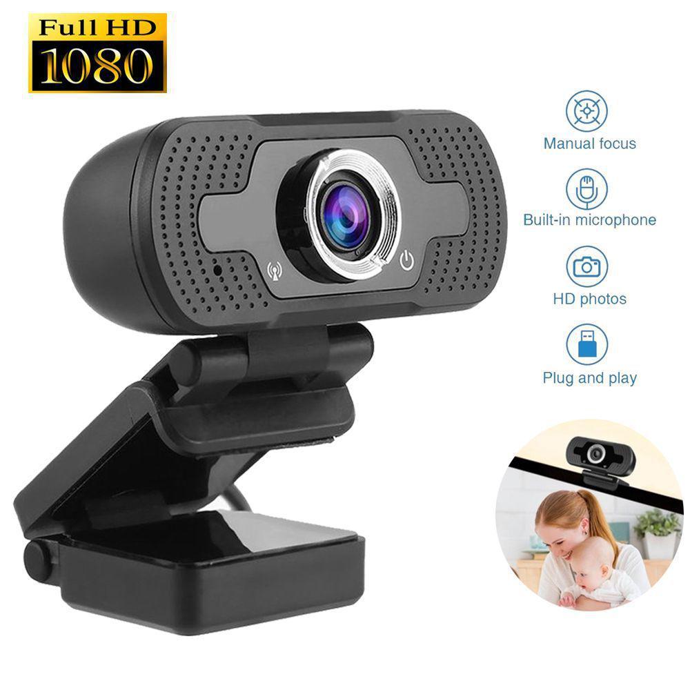Webcam Câmera Full Hd 1080p Usb De Computador Com Microfone Embutido